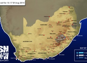 Lesotho Snow – 3 Day Forecast 15-17 August 2014