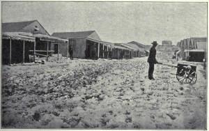 A snowfall in Kimberley, 1876