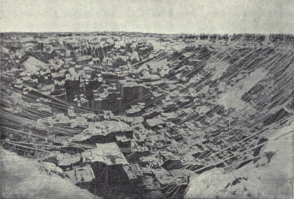 Kimberley Mine after a snow storm, 21 June 1876