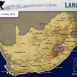 Light Snow Forecast on Eastern Lesotho Mountains, Sunday 10th of May
