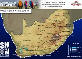 Updated Snow Forecast: Wed, 24 June 2015