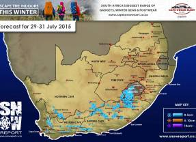 Updated Snow Forecast : 29/30/31 July 2015 (WC, EC, NC and Lesotho)