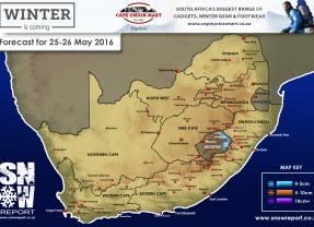 Snow Forecast: Lesotho 25-26 May 2016