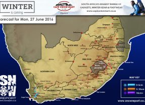 Updated Snow Forecast: 27 June 2016, W Cape