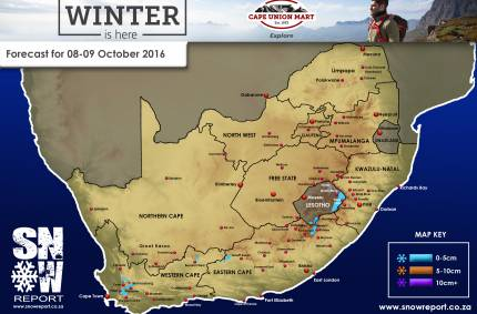Snow Forecast : 8th/9th October 2016