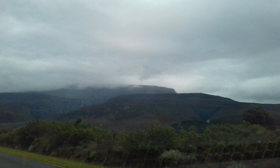 Jelai MJ Badong Jones-Craig : A light dusting spotted on the peaks of Tradouw Pass Western Cape.
