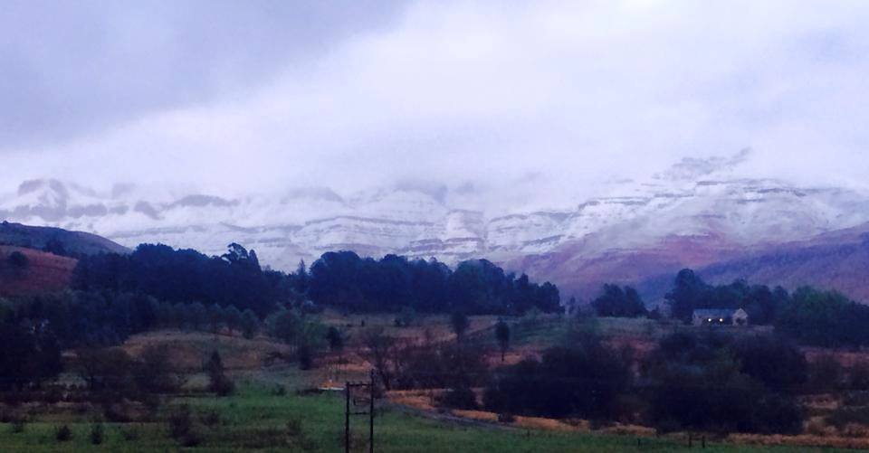Drakensberg gardens has quite a dusting of snow this morning (KZN Drakensberg) - Beverley Gouws