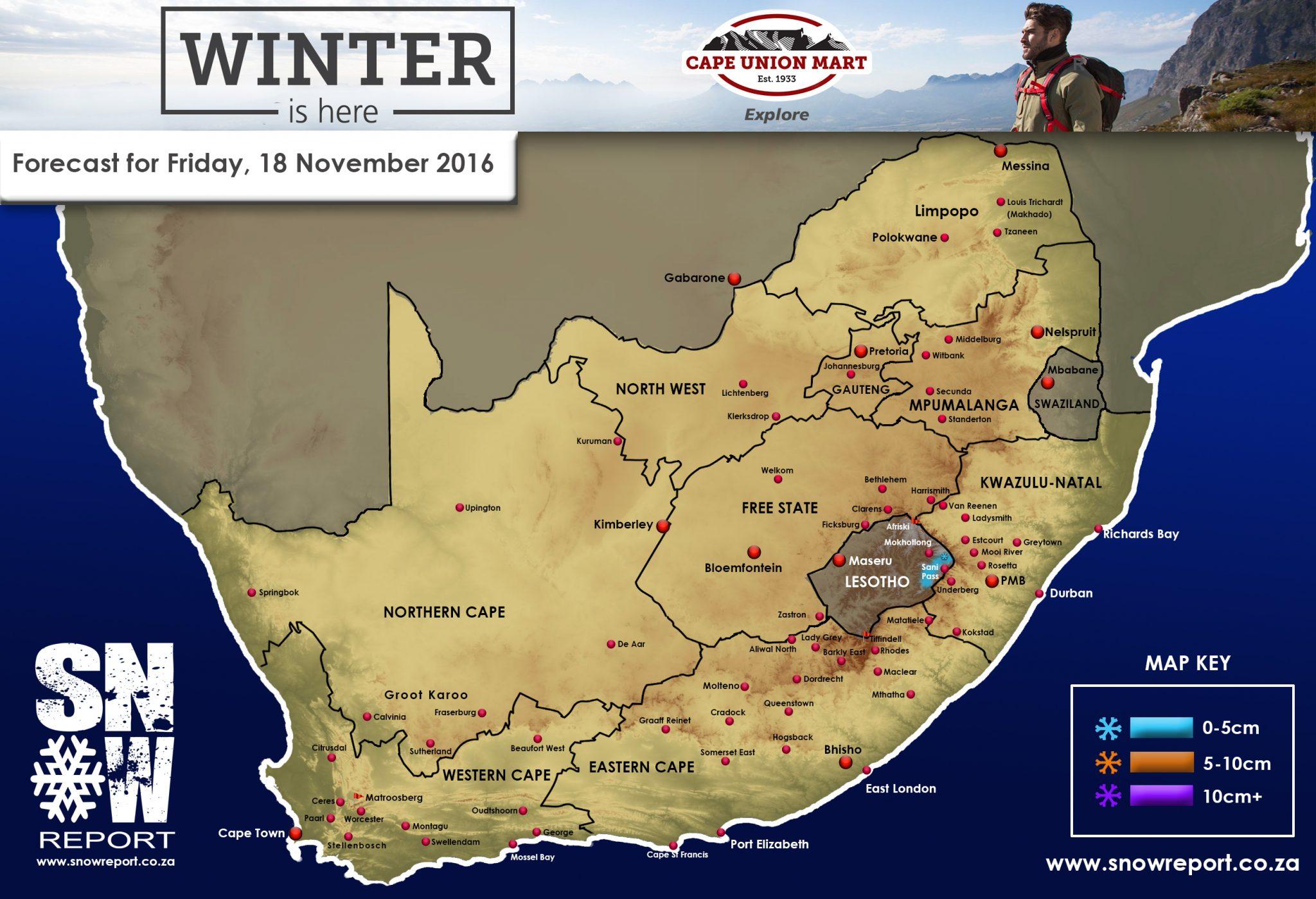Light Flurries For The Drakensberg – 18 November 2016