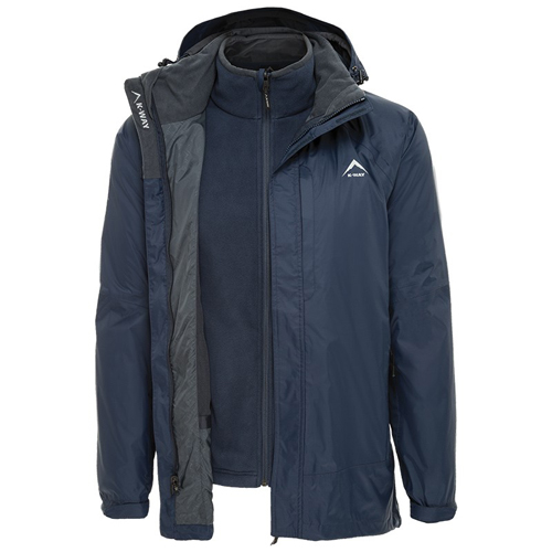 K-Way Mens Antares 3-in -1 Travel Jacket