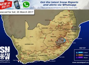 Snow Forecast : 25th March 2017, Lesotho