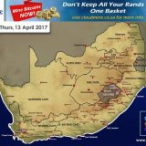 Snow Forecast:  13 April 2017 – Possible Snow For Matroosberg, WC