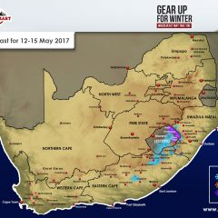 Updated Snow Forecast For SA: 12-15 May 2017