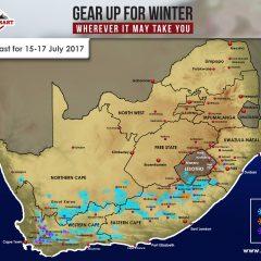 Fri Updated Forecast: 15-17 July – W Cape, E Cape, N Cape, Lesotho, KZN