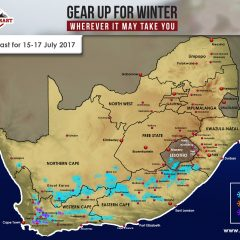 Updated Snow Forecast: 15-17 July – W Cape, N Cape, E Cape, Lesotho