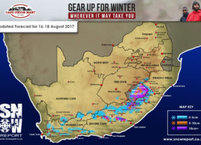 Snow Forecast: Updated Forecast 16-18 August 2017