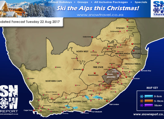 Updated Forecast- E Cape Tues, 22 August 017