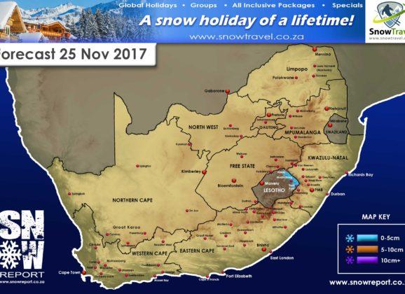 Forecast: Lesotho,  Sat 25 Nov
