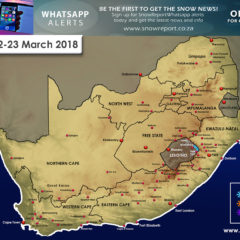 A little snow expected for Drakensberg Mountain Peaks: 22-23 March 2018