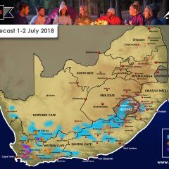 Updated Forecast – Snow for Southern Africa 1-2 July 2018