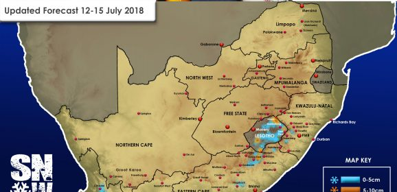 Updated Forecast: 12-15 July 2018