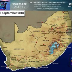 Snow Forecast : Eastern Cape & Lesotho : 2-3 September 2018