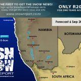 Forecast : Snow in Namibia : 6 September 2018