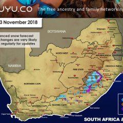 Advanced Snow Forecast: Eastern Cape, Lesotho, KZN, Drakensberg: 1-3 November 2018