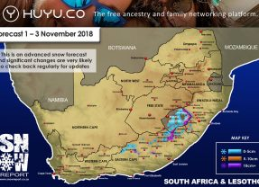 Advanced Snow Forecast: Eastern Cape, Lesotho, KZN, Drakensberg: 1-3 November 2018