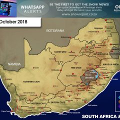 Snow Forecast: Eastern Cape, Lesotho, the Drakensberg: 17 October 2018