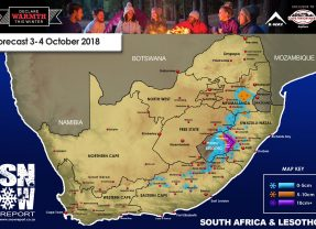 Snow Forecast: Eastern Cape, Lesotho, the Drakensberg: 3-5 October 2018