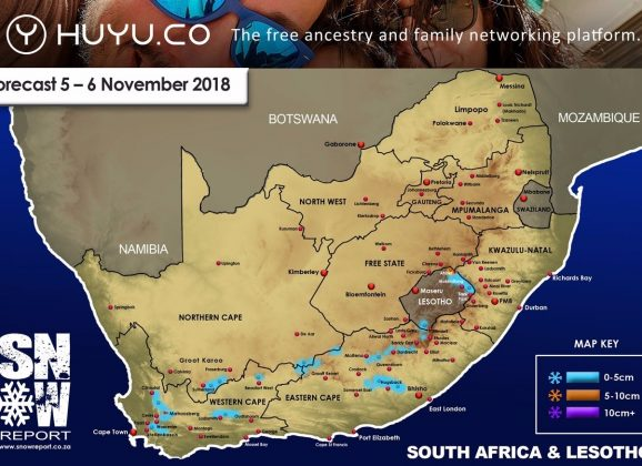 Snow Forecast : 5-7 November 2018 : WC, NC, EC, Lesotho