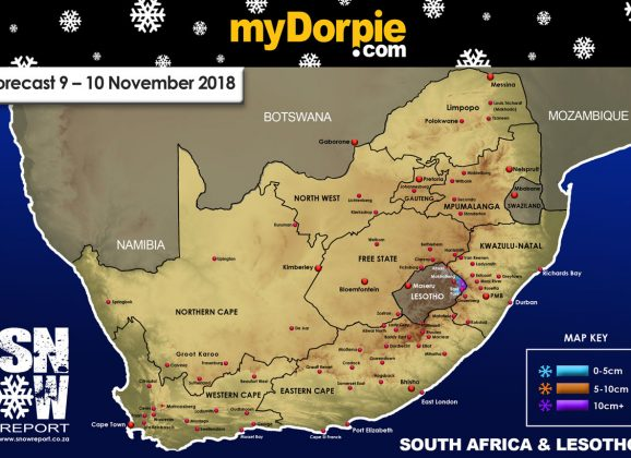Snow Forecast : 9-10 December 2018 : The Drakensberg & Lesotho