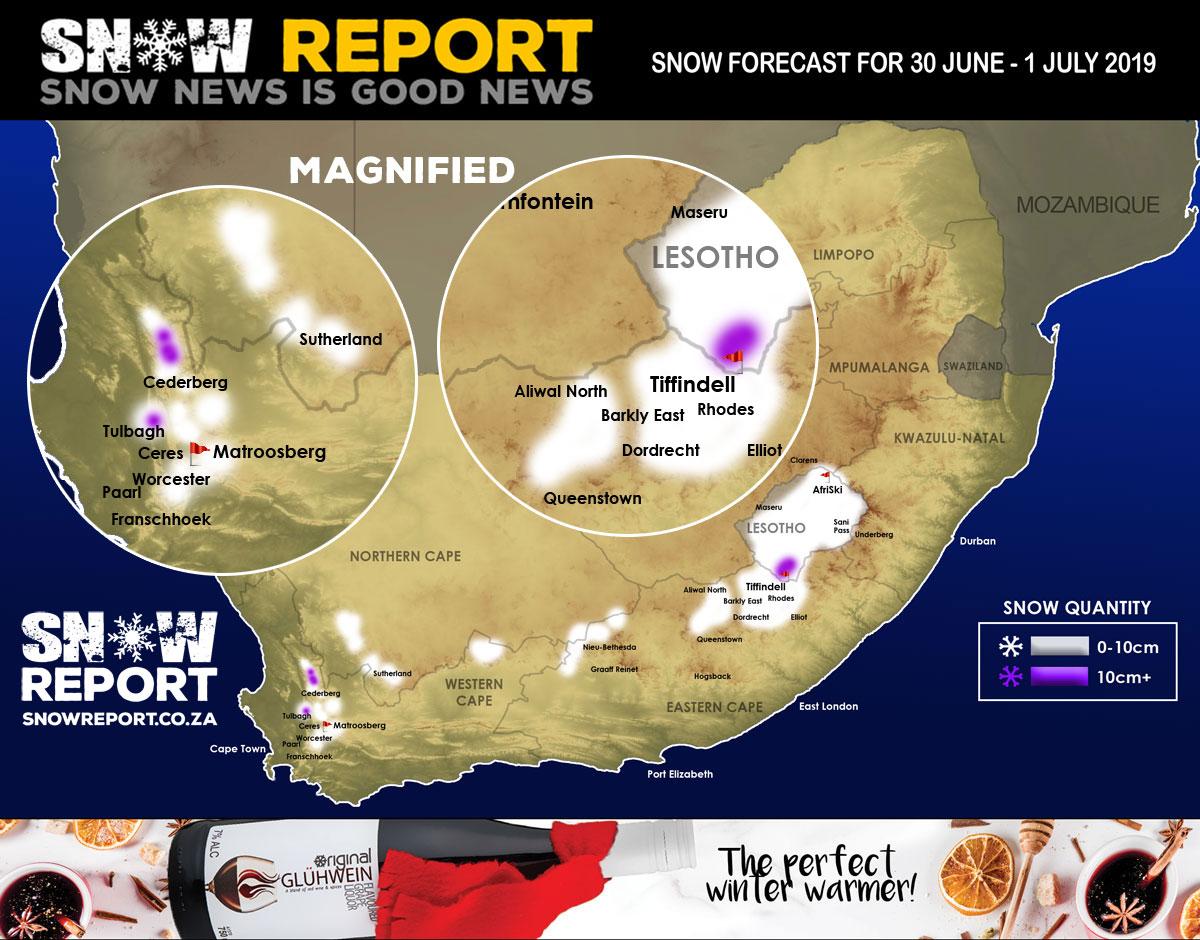 SA weather: Possible snowfall for four provinces on Sunday