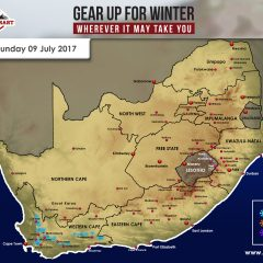 ADVANCED SNOW FORECAST: Western Cape, 9 July 2017