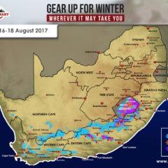 SA Snow Forecast: 16 – 18 August 2017
