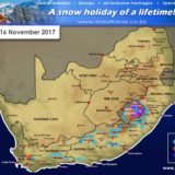 Forecast: Snow expected for W Cape, E Cape, KZN, Lesotho