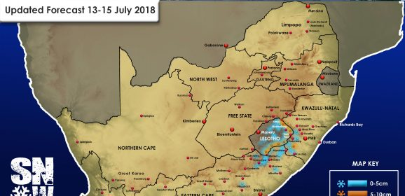 Updated Forecast: 13-15 July 2018