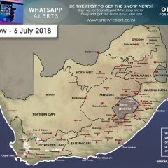 Visible Snow Map 6th July 2018