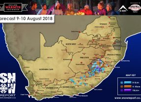 Snow Forecast: 9-10 August 2018