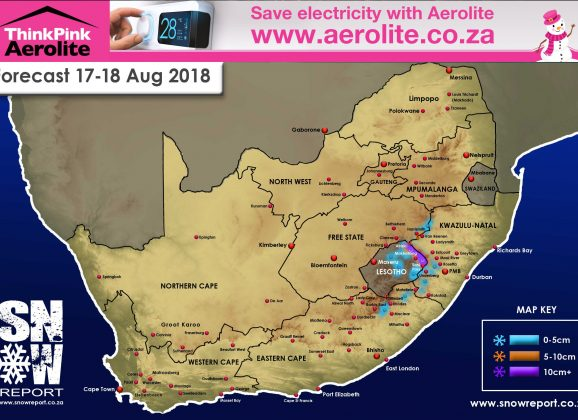 Snow Forecast : KZN, Lesotho 17th/18th August 2018