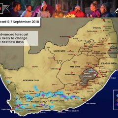 Advanced Forecast : WC, NC, EC, Lesotho : 5-7 September 2018
